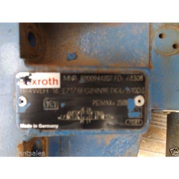 REXROTH ELECTRIC HYDRAULIC VALVE BLOCK MNR: R900944207