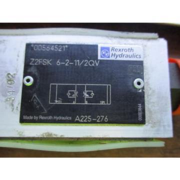 REXROTH HYDRAULICS CHECK VALVE Z2FSK 6-2-11/2QV
