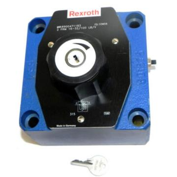 Origin REXROTH R900471183 FLOW CONTROL VALVE 2 FRM 16-32/100 LB/V FD: 10W06
