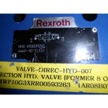 NNB Rexroth Solenoid Valve MNR: R900593263 4WP 10 G31 Directional Valve
