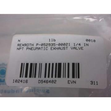 Origin REXROTH P-052935-00021 1/4 IN NPT PNEUMATIC EXHAUST VALVE D546402