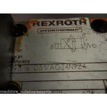 REXROTH Hydronorma Directional Control Valve 4WE6D51AG24N9Z4_4WE 6 D51/AG24N9Z4