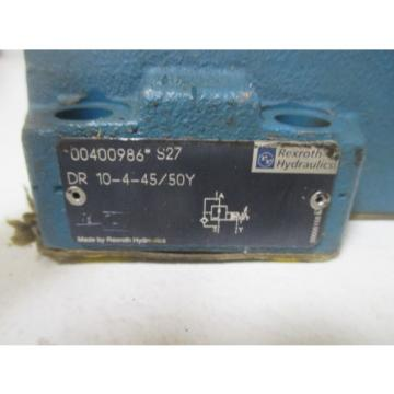 REXROTH DR 10-4-45/50Y DIRECTIONAL VALVE Origin NO BOX
