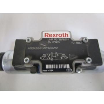 REXROTH HYDRUALIC VALVE 4WE6J62/EG12N9DA/62 Origin NO BOX