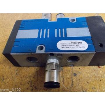 Rexroth PS-031010-01355 Solenoid Valve 150PSI Used