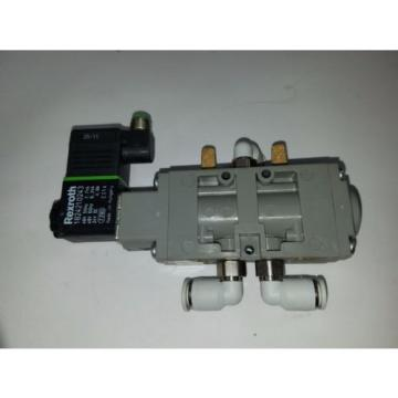 UNUSED REXROTH PNEUMATIC DIRECTIONAL VALVE WITH 24VDC COIL 9180