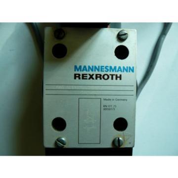 Mannesmann Rexroth 4WE10EA30/CG24N9Z4 Solenoid Operation Valve Wired