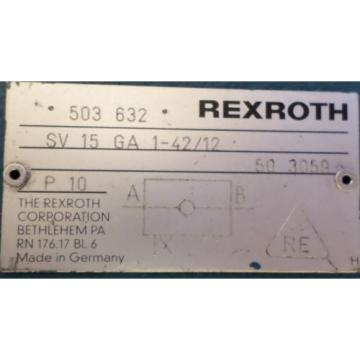 REXROTH CHECK VALVE  SV 15 GA 1-42/12
