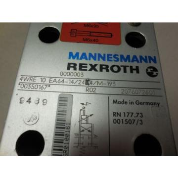 Mannesmann Rexroth 4WRE10EA64-14/24K4/M-193 Flow Control Valve origin No Box