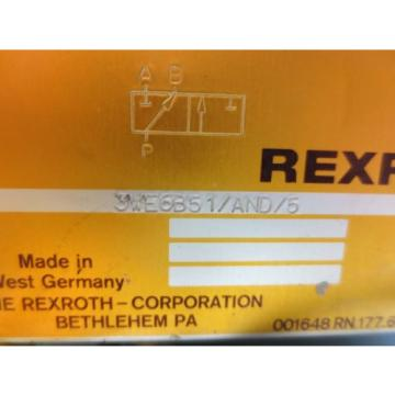 REXROTH SOLENOID VALVE 3WE6B51/AND/5