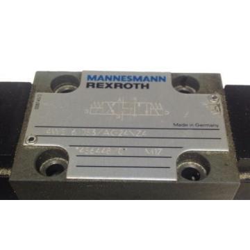 MANNESMANN REXROTH DIRECTIONAL SOLENOID CONTROL VALVE 4WE 6 J53/AG24NZ4