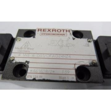 REXROTH 4 WE 6 D51/OFAG24NZ4 F39 24V DC 26W HYDRONORMA VALVE