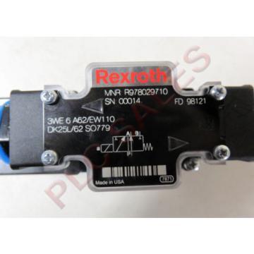 REXROTH R978029710 Hydraulic Directional Control Valve 3WE6A62/EW110  Origin