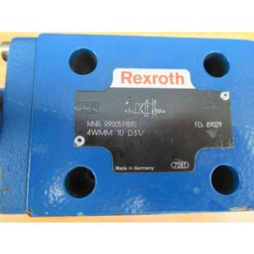 Bosch Rexroth R900591592 4WMM 10 D3X DIRECTIONAL CONTROL VALVE