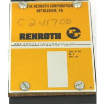 REXROTH 4WE10D21/AW110NZ55L/V VALVE W/ WH70-4-A 359 COIL