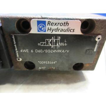 REXROTH HYDRAULIC VALVE 4WE 6 D60/SG24N9K4/V 4WE6D60/SG24N9K4/V