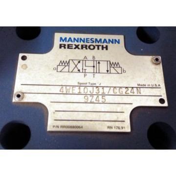 1 USED MANNESMANN REXROTH 4WE10J31/CG24N9Z45 SOLENOID VALVE