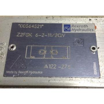 REXROTH HYDRAULIC CHECK VALVE A122-276 / Z2FSK 6-2-11/2QV 102665