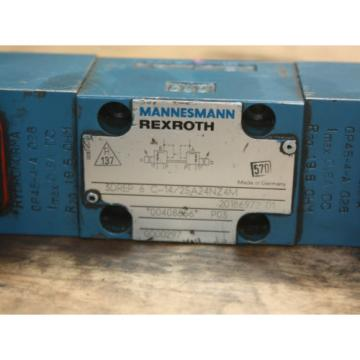 REXROTH 3DREP 6 C-14/25A24NZ4M 00408856 Solenoid Operated Directional Valve