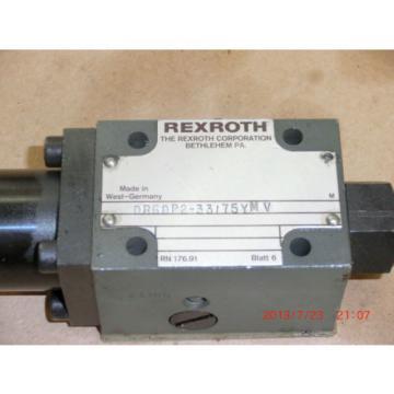 REXROTH VALVE DR6DP2-33/75YMV DR 6 DP2-33/75YMV DR6DP23375YMV