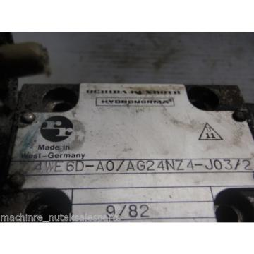 Uchida Rexroth Hydronorma Solenoid Valve 4WE6D-A0/AG24NZ4-J03/2