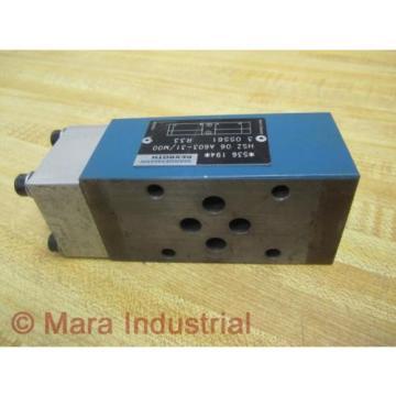 Rexroth Bosch Group HSZ 06 A603-31/M00 HSZ06A60331M00 Valve - Used