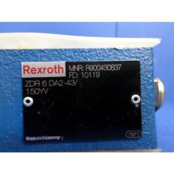 REXROTH ZDR6DA2-43/150YV PRESSURE REDUCING HYDRAULIC VALVE NNB