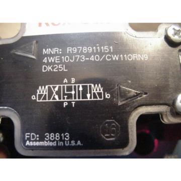 Origin Rexroth hydraulic solenoid valve 4WE10J73-40/CW110RN9DK25L R978911151
