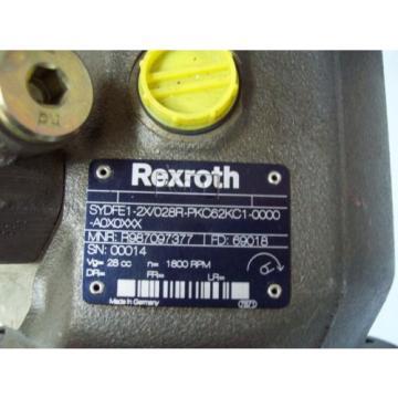 REXROTH SYDFE1-2X/028R-PKC62KC1-0000 CONTROL SYSTEM PRESSURE amp; FLOW - FREE SHIP