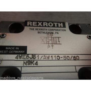 Rexroth Solenoid Operated Valve 4WE6J51/AW110-50/60 N9K4_4WE6J51AW11050/60N9K