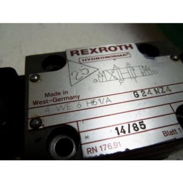 REXROTH 4WE6H51/AG24NZ4 DIRECTIONAL VALVE USED