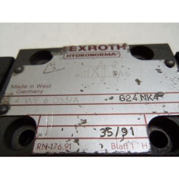 REXROTH 4WE6D53/AG24NK4 HYDRAULIC VALVE USED