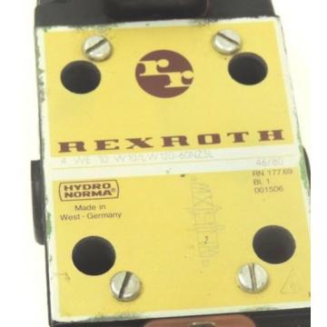 BOSCH REXROTH 4 WE 10 W10/LW120-60NZ5L VALVE W/ WL70-4-A COIL 120V