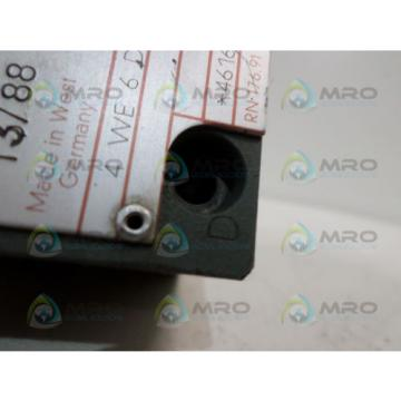 REXROTH 4WE6D51/AG24NK4 BODY VALVE AS PICTURED USED