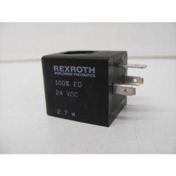 REXROTH SOLENOID VALVE COIL 100% ED 24 VDC 27W NOS