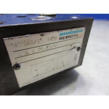 REXROTH MINI VALVE 417568/3 M26 Z1S 6 P1-33/V CNC
