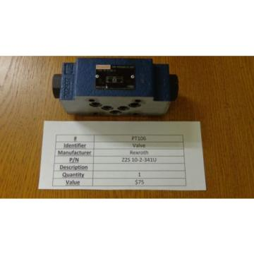 REXROTH Z2S 10-1-34/V USED HYDRAULIC VALVE PT106