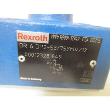 REXROTH DR 6 DP2-53/75YMV/12 PRESSURE REDUCING VALVE Origin NO BOX