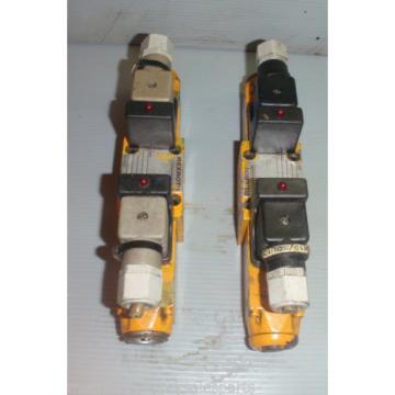 LOT OF 2 REXROTH 4WE6J51 AG24NZ4_4WE6J51AG24NZ4 Control Valves