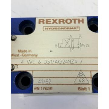 Rexroth Hydraulikventil 4WE6D51/AG24NZ4 solenoid valve 703273