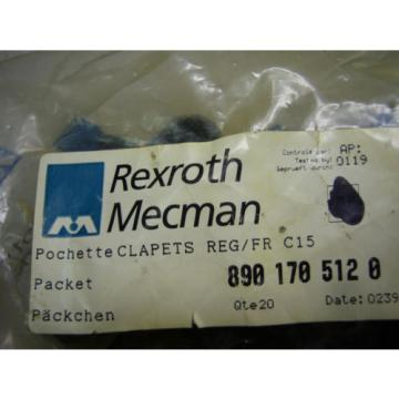 10400 Pack of 20 Rexroth Clapets 890 170 512 0