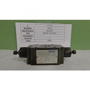 Rexroth, Z2FS 6-2-42/2QV, Bosch Hydraulic Valve Throttle Check PT252