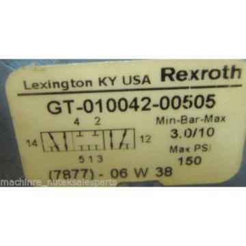 Rexroth Ceram Valve GT-010042-00505_GT01004200505_GT-O1OO42-OO5O5_Max psi 150