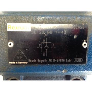 Origin OLD REXROTH R900599586, SL 20 PB 1-42, 05W28   HYDRAULIC CHECK VALVE FJ