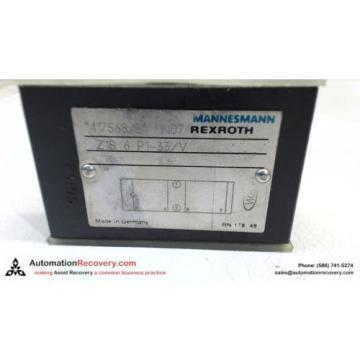 MANNESMANN REXROTH Z1S6-P1-33/V CHECK VALVE 417568/3 N07 #115135