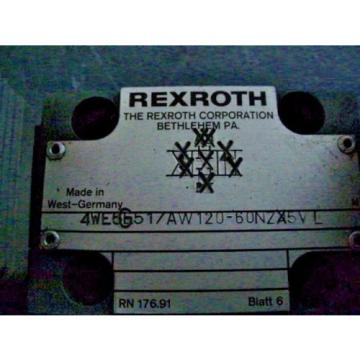 Rexroth 4WE6G51 / AW120-60NZ5V Solenoid Valve used