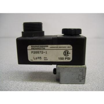 MX-395 MANNESMANN REXROTH P28872-1 SOLENOID LOT OF 2