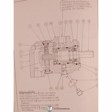 Denison 600, 700 800 Series, Vane Type Pump Motor Service Manual 1964