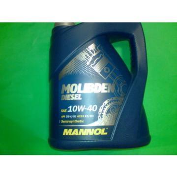 5L MANNOL Molibden Diesel 10W-40 ACEA E2/B3/A2 für stark belastete Dieselmotoren