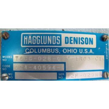 HAGGLUNDS DENISON T6CC-028-017-1R03-C100 HYDRAULIC VANE PUMP REBUILT